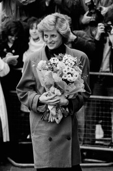 HRH Diana Princess of Wales on a visit to a Marriage Guidance Council office, Finchley, London. 1987.